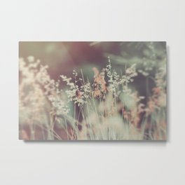 Pinky, flowers, nature, fields, love, fantasy Metal Print