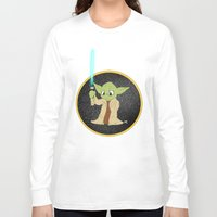 yoda Long Sleeve T-shirts featuring Yoda by alittlecartoonie
