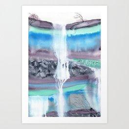 Lavender Falls Art Print
