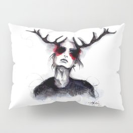 Antlers // Fashion Illustration Pillow Sham