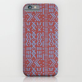Mudcloth No. 1 in Rust iPhone Case