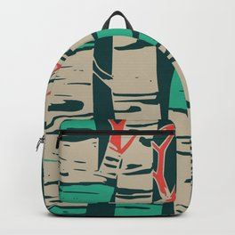 Whimsical birch forest landscape wall art Backpack