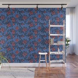 Felt Flowers Flower Branch Floral Pattern Wool Fiber Painting  Wall Mural