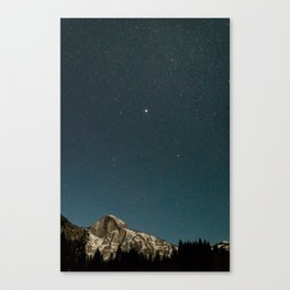 A Clear Winter's Night in Yosemite Canvas Print