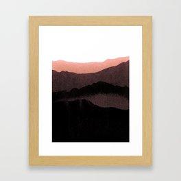 igneous rocks 3 / dusk edit Framed Art Print