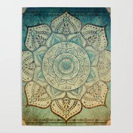 Faded Bohemian Mandala Poster
