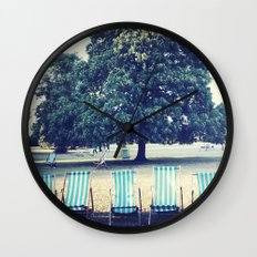Hyde Park Chairs Wall Clock