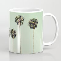 palm trees Mugs featuring Palm Trees  by Laura Ruth