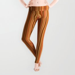 Orange striped . Leggings
