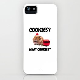 Christmas Hamster Ate The Cookies iPhone Case