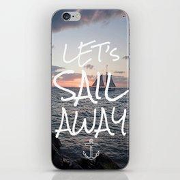Sunset Sailing iPhone Skin