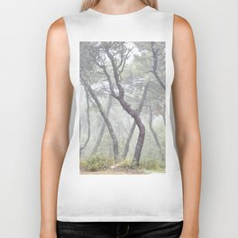 Forest dance. Into the foggy woods. Biker Tank