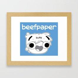 Beefpaper Butts Framed Art Print