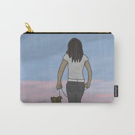 Walking dog Carry-All Pouch