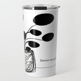 Invest love Travel Mug