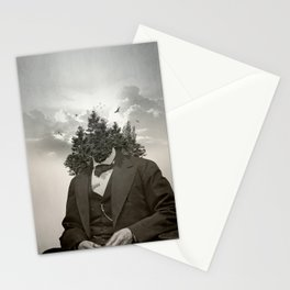 Head in the clouds II Stationery Cards