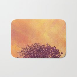 Red Violet Lone Tree and Fall Sunlight Bath Mat
