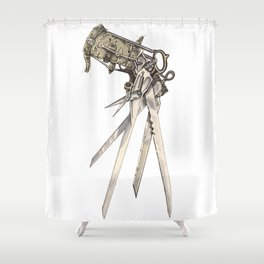 Scissorhands (Sepia-R) Shower Curtain