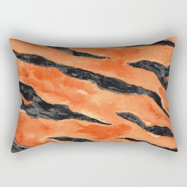 Tiger Stripes (Orange/Black) Rectangular Pillow