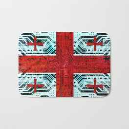 circuit board georgia (flag) Bath Mat