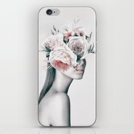 WOMAN WITH FLOWERS 11 iPhone Skin