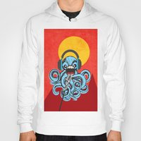 squid Hoodies featuring Squid by Janice