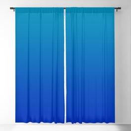 Ombre Hawaiian Ocean Blue Zaffre Gradient Motif Blackout Curtain