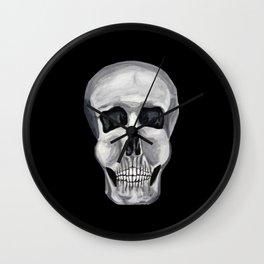Black White & Skull Wall Clock