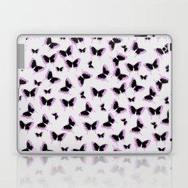 Black and pink butterflies Laptop & iPad Skin