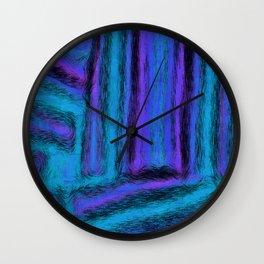 Fuzzy Blues Wall Clock