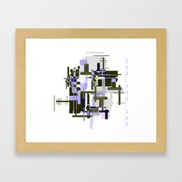 Abstract Seaweed Purple Design Framed Art Print
