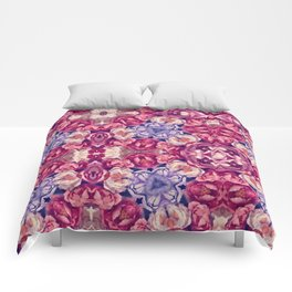 berry floral Comforters