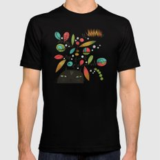 FLOWERING THOUGHT MEDIUM Mens Fitted Tee Black