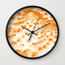 Orange Romanesco Rapture Wall Clock