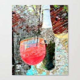 Wine art 4 Canvas Print