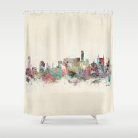 tennessee Shower Curtains featuring music city tennessee by bri.buckley