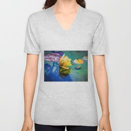 Water lily Unisex V-Neck
