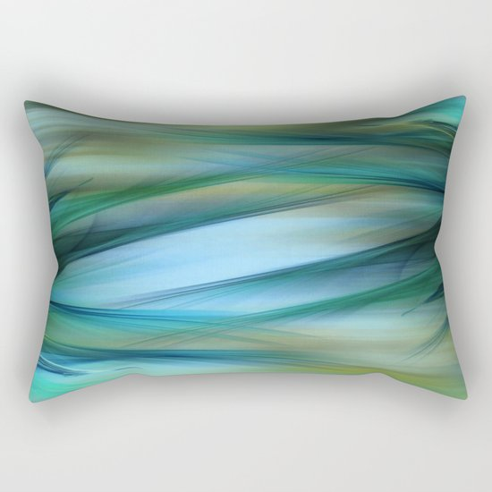 Soft Feathered Lights Abstract Rectangular Pillow