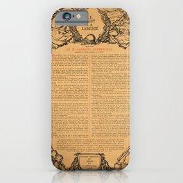 old placard le droit de la liberte france iPhone Case