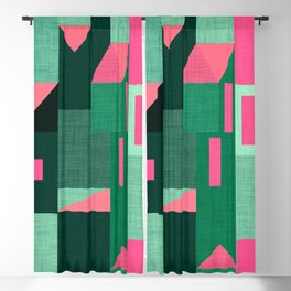 Green Klee houses Blackout Curtain