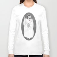 haunted mansion Long Sleeve T-shirts featuring The Mansion Bride by Designed4dis