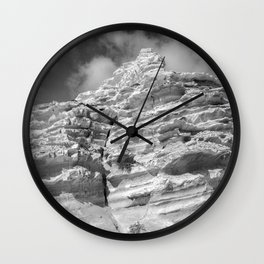 ISLAND STORIES 20 Rocky Black and White Wall Clock