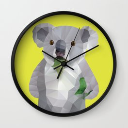 Koala with Koalafication Polygon Art Wall Clock