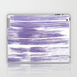 Modern abstract lilac lavender white watercolor brushstrokes Laptop & iPad Skin