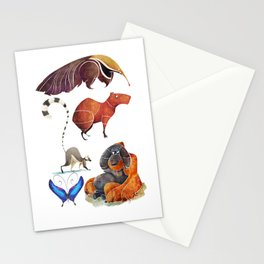 Rainforest animals Stationery Cards