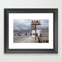 BOWL LOUNGE Framed Art Print