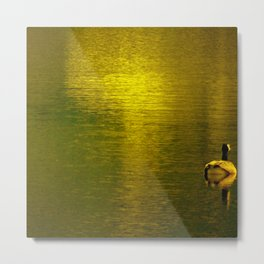 Gold Water I Metal Print