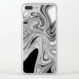 Modern contemporary Black and White Abstract Clear iPhone Case