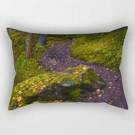 Walking along the Berg Lake Trail in Fall Rectangular Pillow