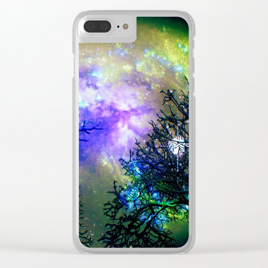 Stars Through The Trees Clear iPhone Case